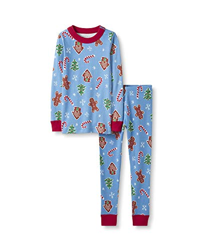 Moon and Back by Hanna Andersson Kids' Big Organic Family Matching 2 Piece Pajama Set, Holiday Treats, 10