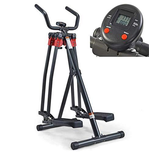 LEIJINGZI Worth having - Entrenador de pedales compactos con monitor LCD - Entrenador de caminata de aire plegable Ejercicio Fitness Ejercicio Máquina Elíptica Planeador Planeador - Ideal para hombres
