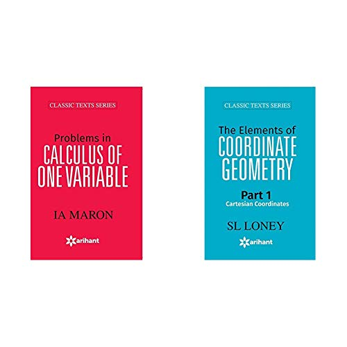 Problems In CALCULUS OF ONE VARIABLE + The Elements of COORDINATE GEOMETRY Part-1 Cartesian Coordinates (Set of 2 Books)