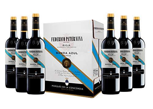 Caja de Paternina Banda Azul Crianza D.O. Rioja Vino tinto - 6 botellas x 750 ml. - 4500 ml