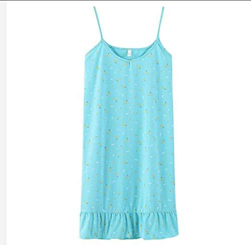 XFLOWR Sommer 100% Baumwolle Frauen Sling Nachthemden Schlafanzug Lässig Bequem Soft...