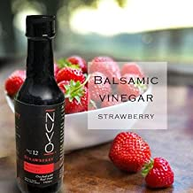 Strawberry Balsamic Vinegar of Modena - Made with Fresh Trebbiano Grapes, Must, Strawberries - 12 Year Aged Thick Vinegar - Sugar & Caramel Free - Perfect for Salad Dressings & Desserts - 150ml