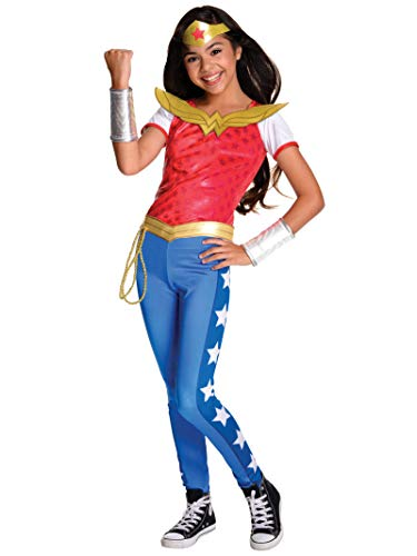 DC Super Rubie's Hero Girls Wonder Woman Deluxe Kinderkostüm, Mehrfarbig, Medium