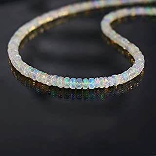 """925 Sterling Silver 12-60/"""" Necklace Natural Ethiopian Opal 4-6mm Chips Beads PQ5"""