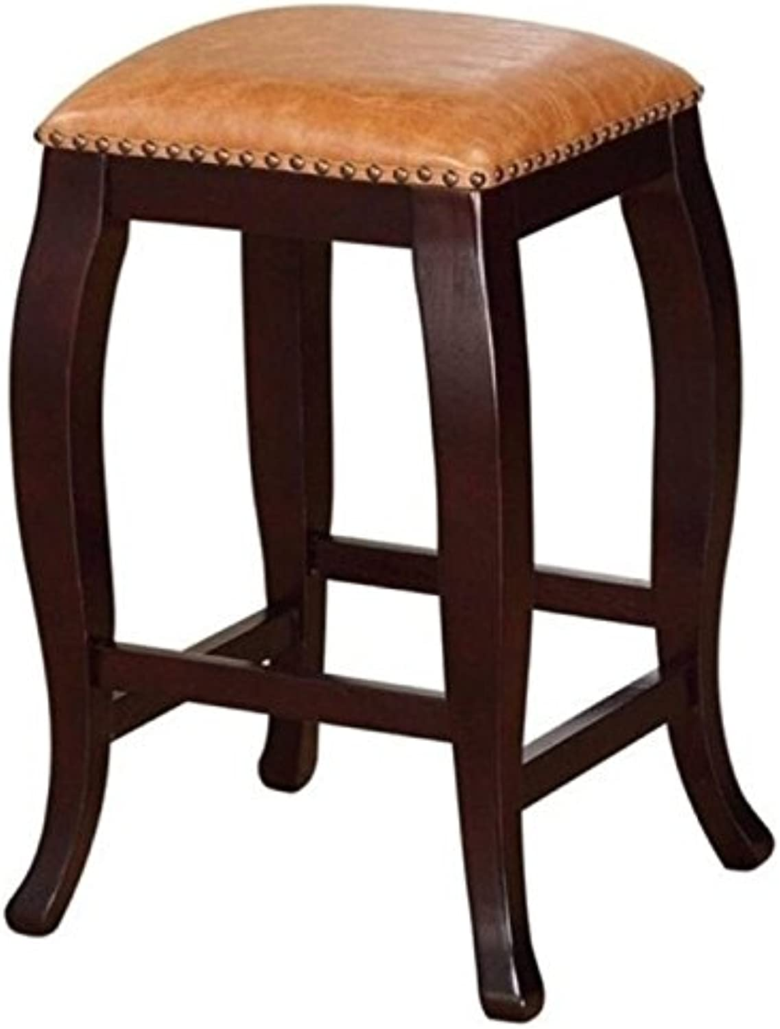 Hawthorne Collection 24  Faux Leather Square Top Counter Stool