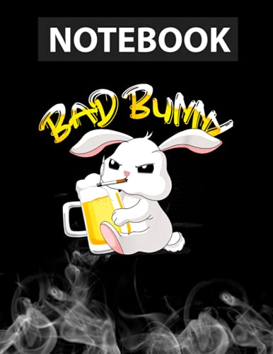 Easter Egg Basket Bad Bunny Beer Drinking Outfit Men Women Journal Notebook / Greeting Card Alternative / 130 Pages 8.5''x11'