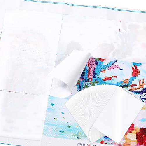 Boao 150 Blätter Diamant Malpapier 3,9 x 5,9 Zoll Diamant Malpapier Trennpapier Doppelseitiges Trennpapier Antihaft Wiederverwendbar Papier Abdeckung für Diamant Stickerei Zubehör