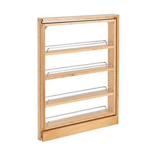 Rev-A-Shelf 432-BF-3C 3-Inch Base Cabinet Filler Pullout Kitchen Wooden Spice Rack Holder Shelves for Storage Organization