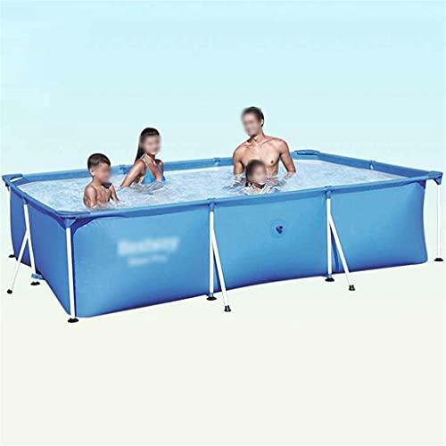 Piscinas Desmontables Piscina Rectangular Puede Acomodar 3-5 Personas Piscina Niños Adecuado Para La Familia, Al Aire Libre. Con Cubierta De Piscina ( Color : Blue , Size : 300*201*66cm )