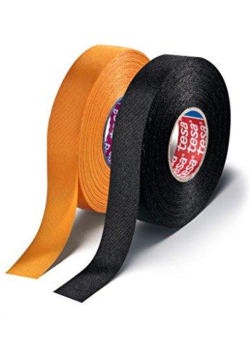 tesa Gewebeband PET-Gewebe 51026 Isolierband für Kabelbäume Baumwolle Klebeband 38mm x 25mm