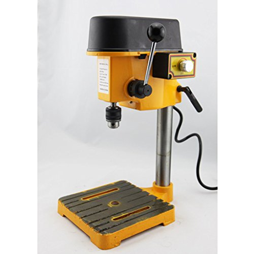 Save %33 Now! Wotefusi Drill Press Mini Bench Top 6mm B10 Stepless Speed Regulation Fully Adjustable...