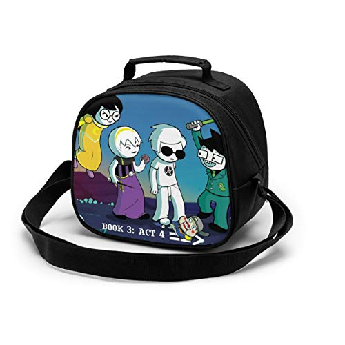 Homestuck Lunch Box Kids Insulated Tote Bag Bento Boxes Out To School Travel