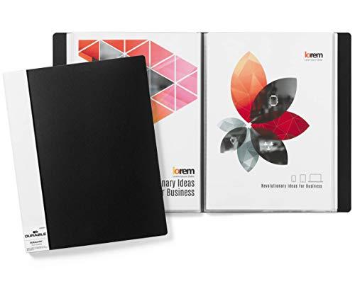 Durable 242501 Sichtbuch Duralook (für A4, mit 50 Hüllen, Rückenbreite 30 mm) schwarz