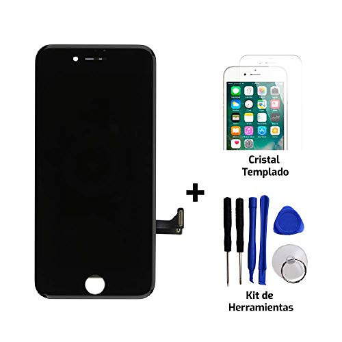 Tekknoshop Pantalla LCD Display de Reemplazo + Kit de Herramientas para iPhone 5C Negro