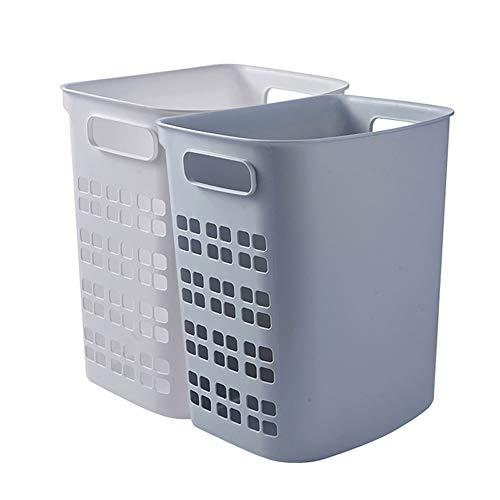 Dirty Clothes Basket, Laundry Basket, Bathroom Storage Basket, Wall-mounted Large-capacity Storage Basket, Household Plastic Dirty Clothes Basket, (Color : Gray+White, Size : 1pcs)