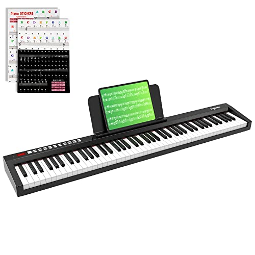 PAXCESS 88-Key Digital Piano Keyboard with Sustain Pedal, ingbelle Portable Electric...
