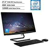 2019 Lenovo IdeaCentre A340 21.5' FHD Touchscreen All-in-One Computer, Intel Core i3-8100T Processor, 4GB DDR4 RAM, 128GB PCIe SSD, 802.11ac + Bluetooth, USB 3.1, HDMI Out, Windows 10 Home
