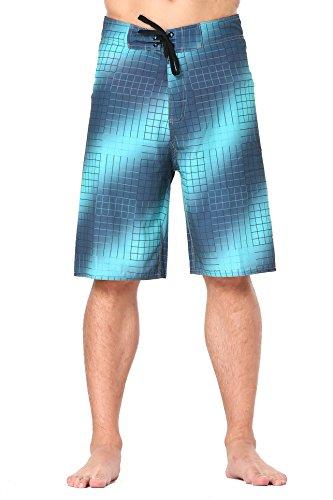 Bañador de deporte, para deportes al aire libre, para hombre, con bolsillo, pantalón corto de playa, de Clothin Light Green(with Mesh Lining) 97 cm