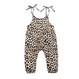 Girls Romper, Toddler Little Girls Adjustable Sleeveless Strap Playsuit, Summer One-Pieces Girls Jumpsuit, 1-7 Years