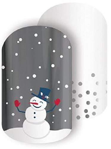 Christmas, Hanukkah & New Year Exclusives   Jamberry Nail Wraps   Nail Decal   Winter Seasonal Nail Art Stickers (Half Sheet - 1 manicure / 1 pedicure, Snow Day)