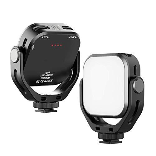 Mini luz para selfie de teléfono móvil, con vídeo LED, 6 W, CRI95, 3200 K-6500 K, regulable, para Live Stream Makeup Vlog