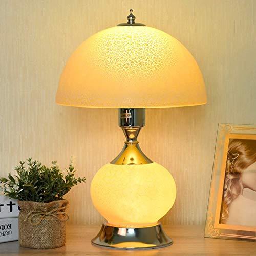 YNHNI Hogar Lámpara de Mesa de Vidrio Dormitorio Conditador de Noche Lámpara Romántico Hogar Moderno Mesa de Boda Lámpara