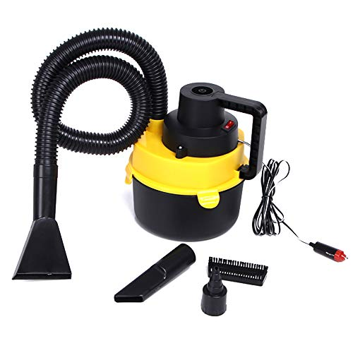 TONGXU Auto-Staubsauger, 12 V, nass und trocken, mit starkem Saugnapf, tragbar, für Zigarettenanzünder