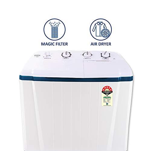 Onida 7 Kg 5 Star Semi-Automatic Top Loading Washing Machine (S70OIB, White)