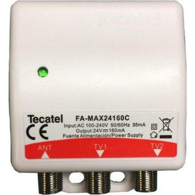 Tecatel - Fuente de alimentación 24V, 160mA, 2 sal.