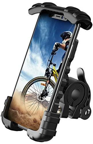 """Bike Phone Holder, Motorcycle Phone Mount - Lamicall Motorcycle Handlebar Cell Phone Clamp, Scooter Phone Clip for Phone 11 / Phone 11 Pro Max, S9, S10 and More 4.7"""" - 6.8"""" Cellphone"""