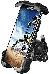 "Lamicall Soporte Movil Bicicleta, Soporte Motocicleta - Rotación 360° Soporte Manillar para iPhone 12 Mini, 12 Pro Max, 11 Pro, XS Max, XR, X, 8, 7, 6S, Samsung S10 S9 S8, Huawei, 4.7-6.8"" Smartphones"