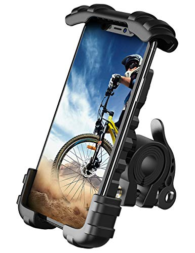 "Bike Phone Holder, Motorcycle Phone Mount - Lamicall Motorcycle Handlebar Cell Phone Clamp, Scooter Phone Clip for Phone 11 / Phone 11 Pro Max, S9, S10 and More 4.7"" - 6.8"" Cellphone"