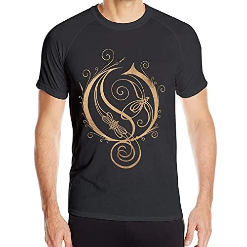 Yaxinduobao T-Shirt ad Asciugatura Rapida a Manica Corta da Uomo Comoda con Logo Opeth Nera