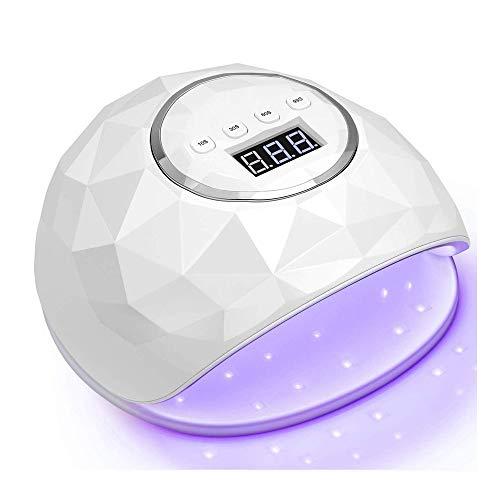 Secadora De Uñas Rápida De 86W, Luz De Curado De Esmalte De Uñas De Gel Ligero LED, Sensor Automático para Ajuste Profesional De Tiempo De Peluquería (Blanco)