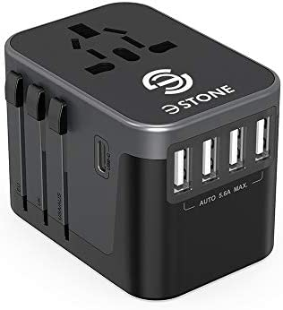 Universal Travel Adapter 2019 Upgraded Charger AC Plug Adaptor with Free Carry Bag Max 5 6A product image