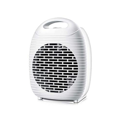 HDCDKKOU Personal PTC Heater, Compact Design, Adjustable Temperate Control from Celsius, Push-Button Controls, 2000 W, White