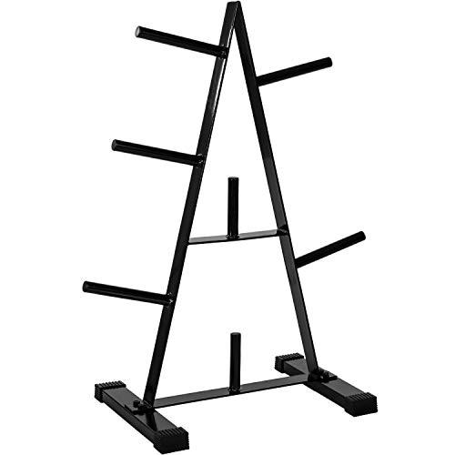 Movit® Hantelscheibenständer Hantelbaum, Scheibenaufnahme: 30mm Farbwahl: schwarz oder weiß, bis 250 kg belastbar, 7 Stangen
