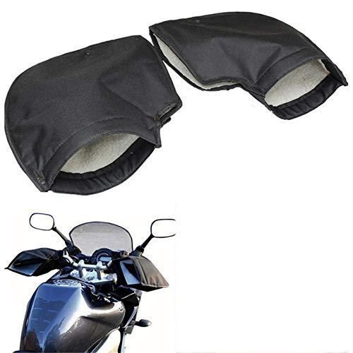 Guantes de Manillar de Motocicleta, Invierno Impermeable y a Prueba de Viento Gruesas Cubiertas de Manillar de Terciopelo cálido Manoplas Manguitos para Motocicletas, Scooters y Motos de Nieve
