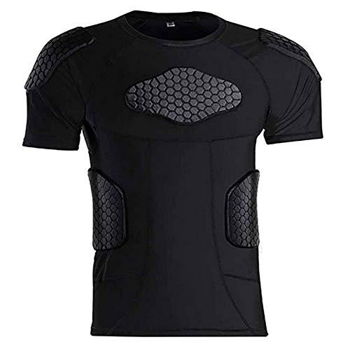Men's Short Sleeve Goalkeeper Padded Shirt Football...