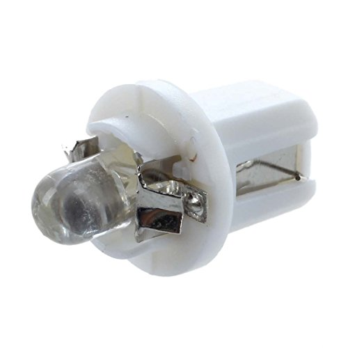 SODIAL 10 x T5 LED luz bombilla luz blanca de calibre medidor salpicadero B8-5D Luces de coche 12V 6000K-6500K