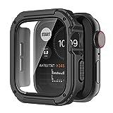 Recoppa Apple Watch Hülle mit Bildschirmschutz aus Panzerglas, Durable Schutzhülle Gehäuse Schutzfolie Stoßfest für iWatch (38mm, Serie 3/2/1, Schwarz)