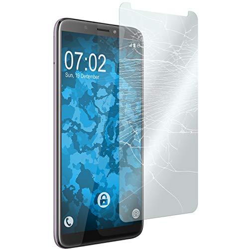 PhoneNatic 2 x Glas-Folie klar kompatibel mit HTC Desire 12 Plus - Panzerglas für Desire 12 Plus