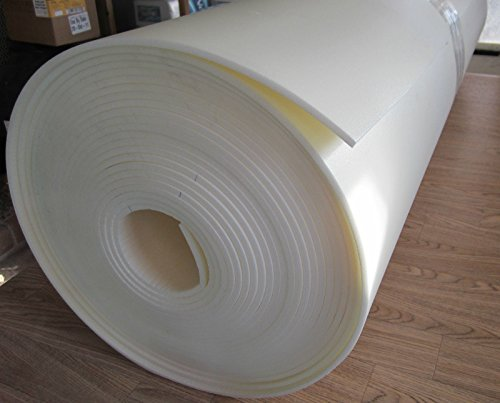 1/4' x 24' x 60' Craft Foam Hidense Closed Cell Foam Upholstery Foam for Auto Interior Panels, Crafts, Speakers Home Decor Off White 1Pcs