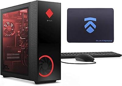2020 Latest ELUK OMEN 30L Gaming Desktop PC (RGB Liquid Cooled Intel i9-10900K, NVIDIA RTX 2080 Ti, Z490 Mobo, 750 Watt Platinum PSU, Windows 10 Pro, 1TB WD Black SSD + 2TB HDD, 32GB HyperX RGB RAM)