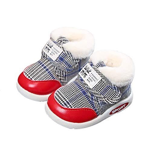 DEBAIJIA Kleinkindschuhe 3-18M Baby First-Walking Kinderschuhe Jungen rutschfeste Netz Atmungsaktives Leichtes TPR Turnschuhe 17/18 EU Rot (Etikettengröße-16)