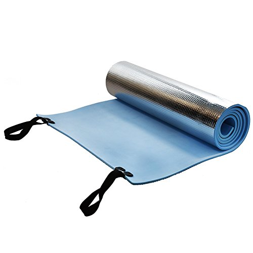 Tree2018 Yoga Mat Fitness Camping Picnic Moisture Proof Non Slip Comfortable Sports Soft Reusable Workout Elastic Folding Thick Aluminum Film Outdoor king(180X50X1cm)