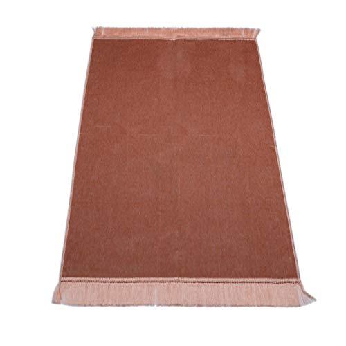 Tapis de prière vierge sans ornements, taille 70 x 110 cm – Tapis de prière musulmane Namaz-lik Seccade, tapis de prière, salah, seccade, islamic prayer mat rug, pour prière en Islam (rose raisin)