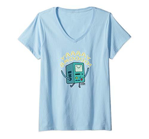 Adventure Time Womens Yay BMO Racerback Tank Top