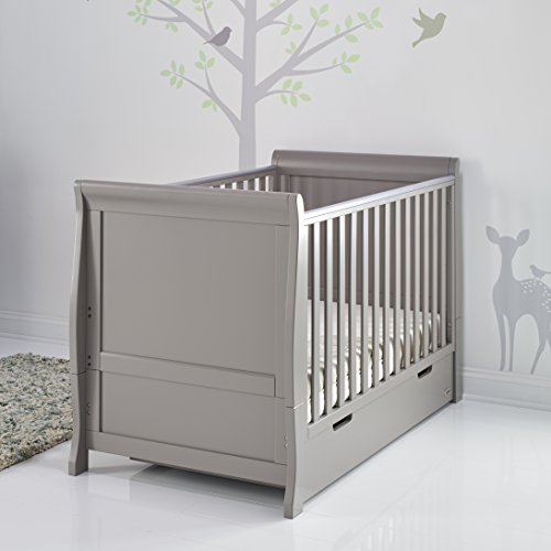 Obaby Stamford Sleigh Classic Cot Bed - Taupe Grey