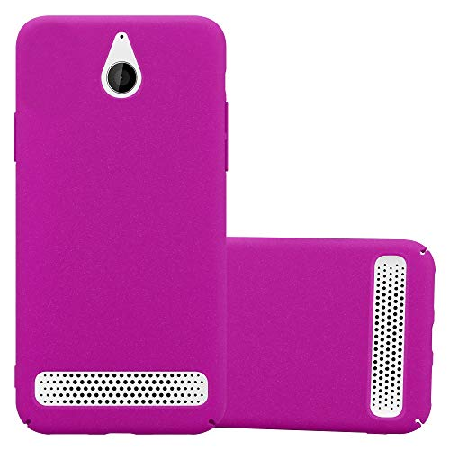 Cadorabo Hülle für Sony Xperia E1 - Hülle in Frosty PINK – Hardcase Handyhülle im matten Frosty Design - Schutzhülle Bumper Back Hülle Cover